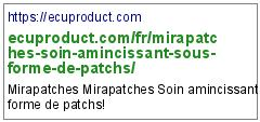 https://ecuproduct.com/fr/mirapatches-soin-amincissant-sous-forme-de-patchs/